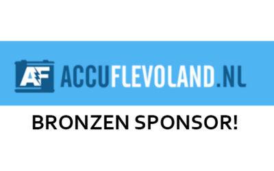 Accu Flevoland is Bronzen Sponsor!