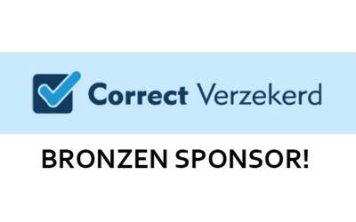 Correct Verzekerd is Bronzen Sponsor!